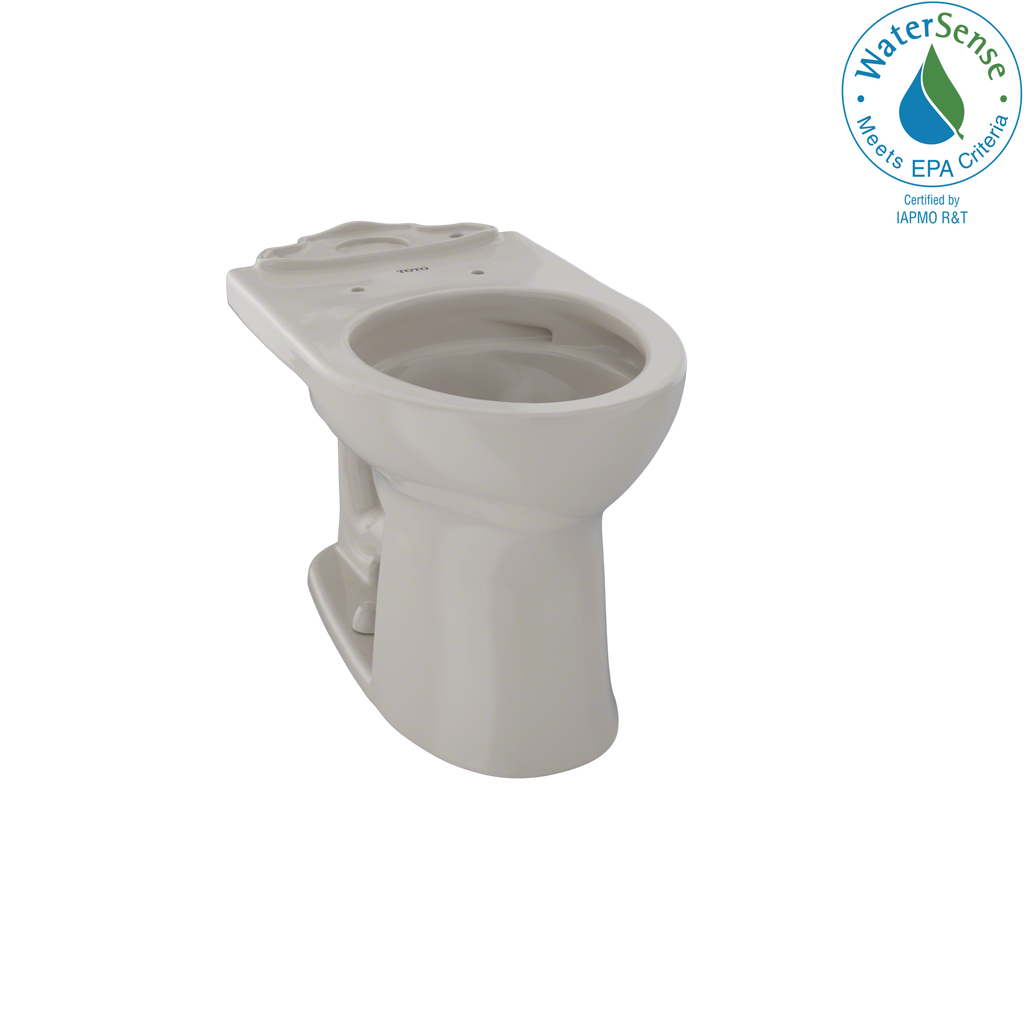 TOTO® Drake® II Universal Height Round Toilet Bowl with CeFiONtect™, Bone - CST453CEFG#03