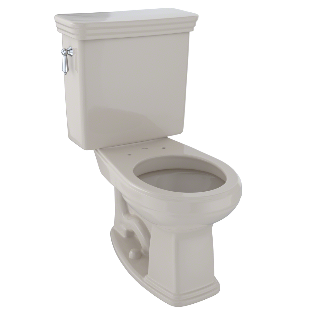 TOTO® Promenade® Two-Piece Round 1.6 GPF Universal Height Toilet, Bone - CST423SF#03