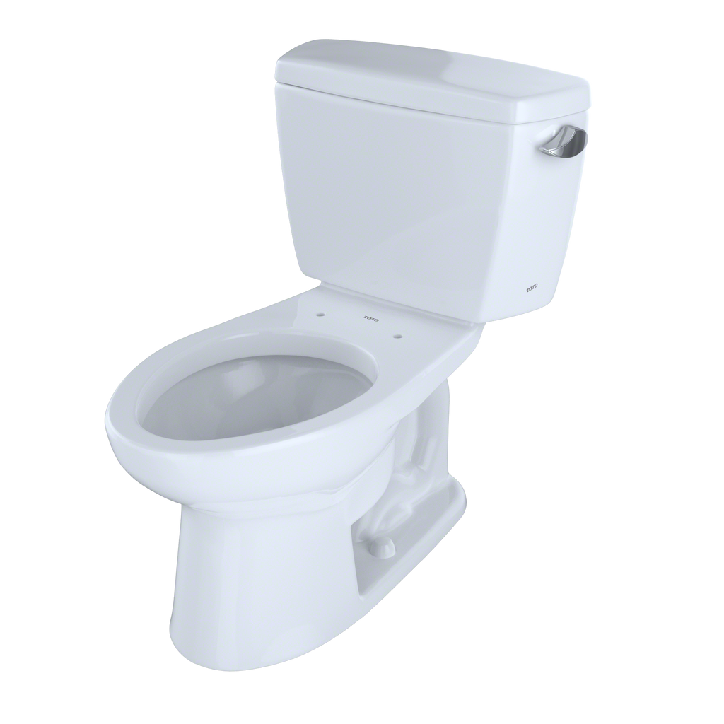 TOTO® Drake® Two-Piece Elongated 1.6 GPF Toilet with CeFiONtect™ and Right-Hand Trip Lever, Cotton White - CST744SGR#01