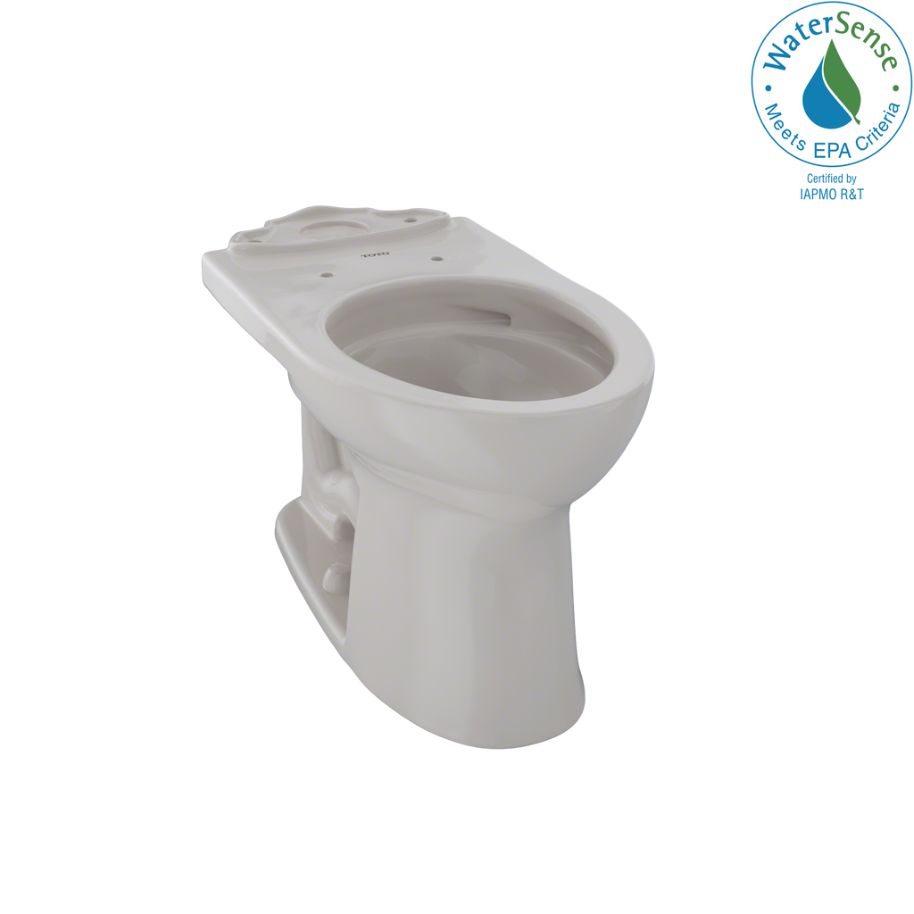 TOTO® Drake® II Universal Height Elongated Toilet Bowl with CeFiONtect™, Sedona Beige - C454CUFG#12
