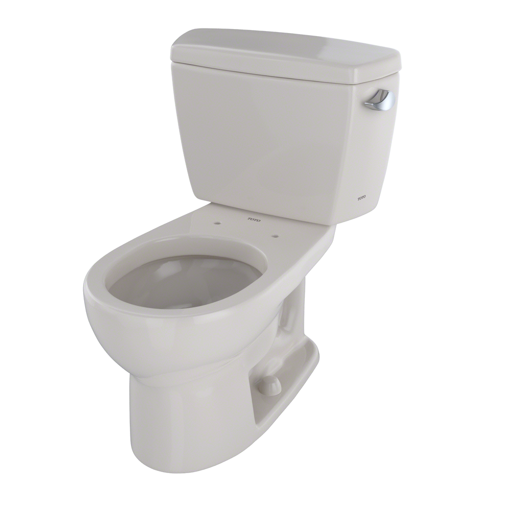 TOTO® Drake® Two-Piece Round 1.6 GPF Toilet with Right-Hand Trip Lever, Sedona Beige - CST743SR#12