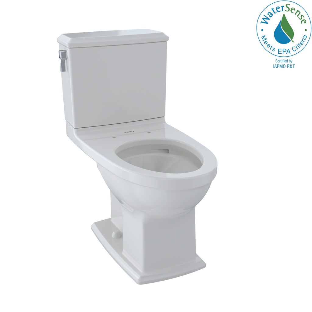 TOTO® Connelly® Two-Piece Elongated Dual-Max®, Dual Flush 1.28 and 0.9 GPF Universal Height Toilet with CeFiONtect™, Colonial White - CST494CEMFG#11