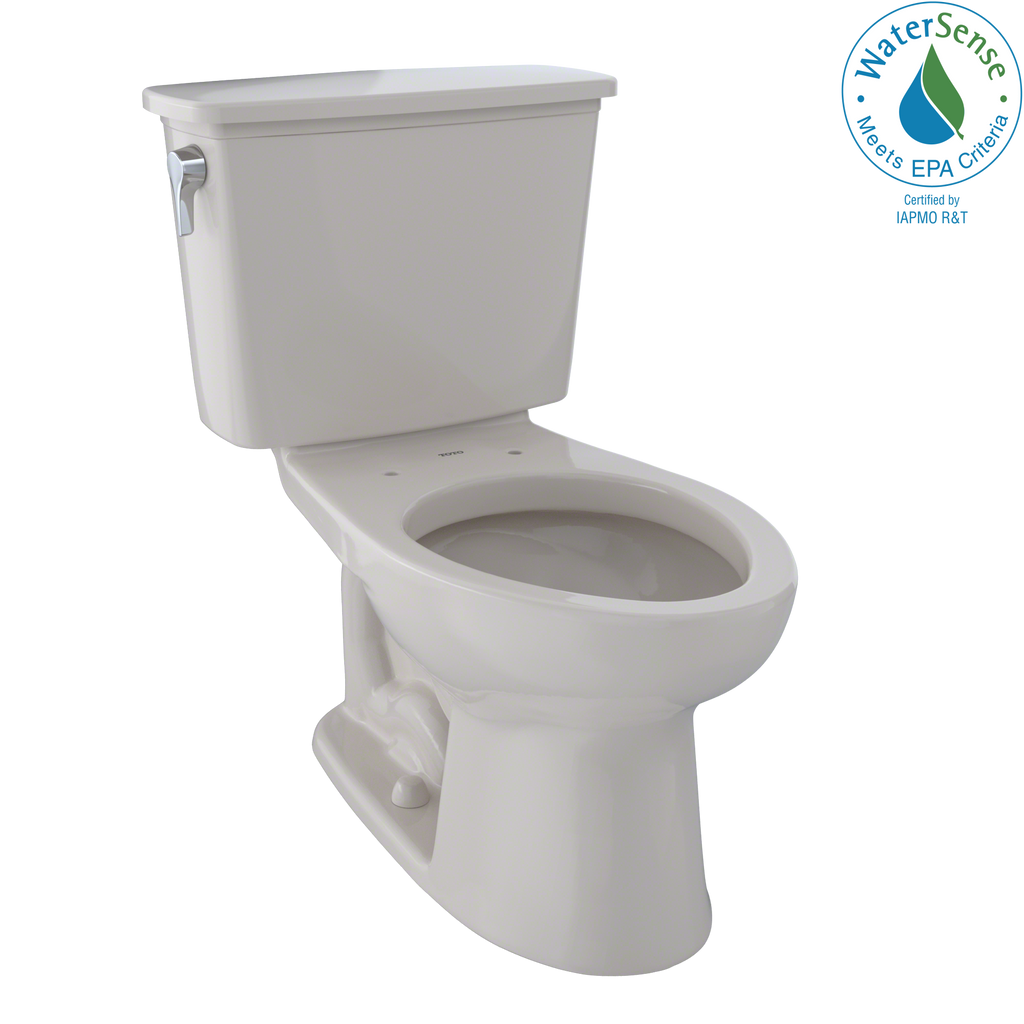 TOTO® Eco Drake® Transitional Two-Piece Elongated 1.28 GPF Toilet, Sedona Beige - CST744EN#12