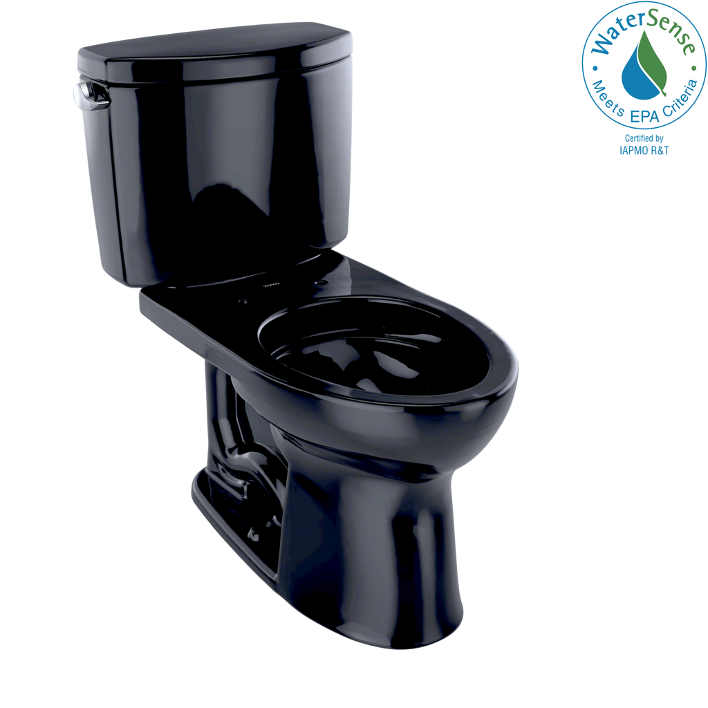 TOTO® Drake® II Two-Piece Elongated 1.28 GPF Universal Height Toilet, Ebony - CST454CEF#51