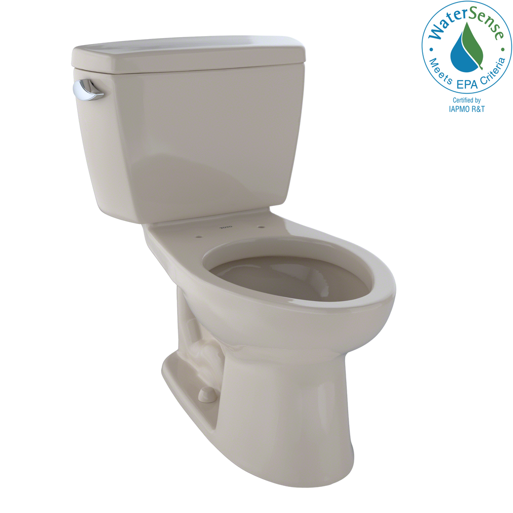 TOTO® Eco Drake® Two-Piece Elongated 1.28 GPF ADA Compliant Toilet, Bone - CST744EL#03