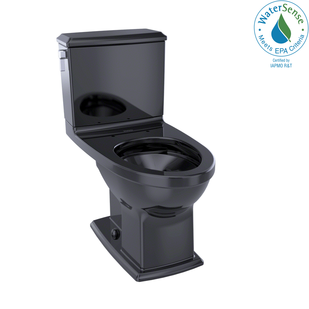 TOTO® Connelly® Two-Piece Elongated Dual-Max®, Dual Flush 1.28 and 0.9 GPF Universal Height Toilet, Ebony - CST494CEMF#51