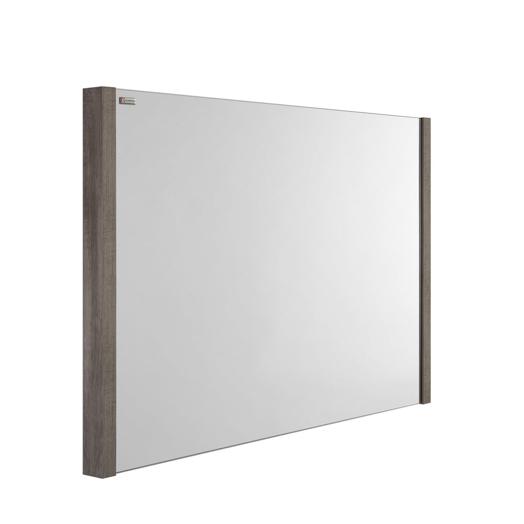 "48"" Slim Frame Bathroom Vanity Mirror, Wall Mount, Ash, Serie Roma by VALENZUELA"