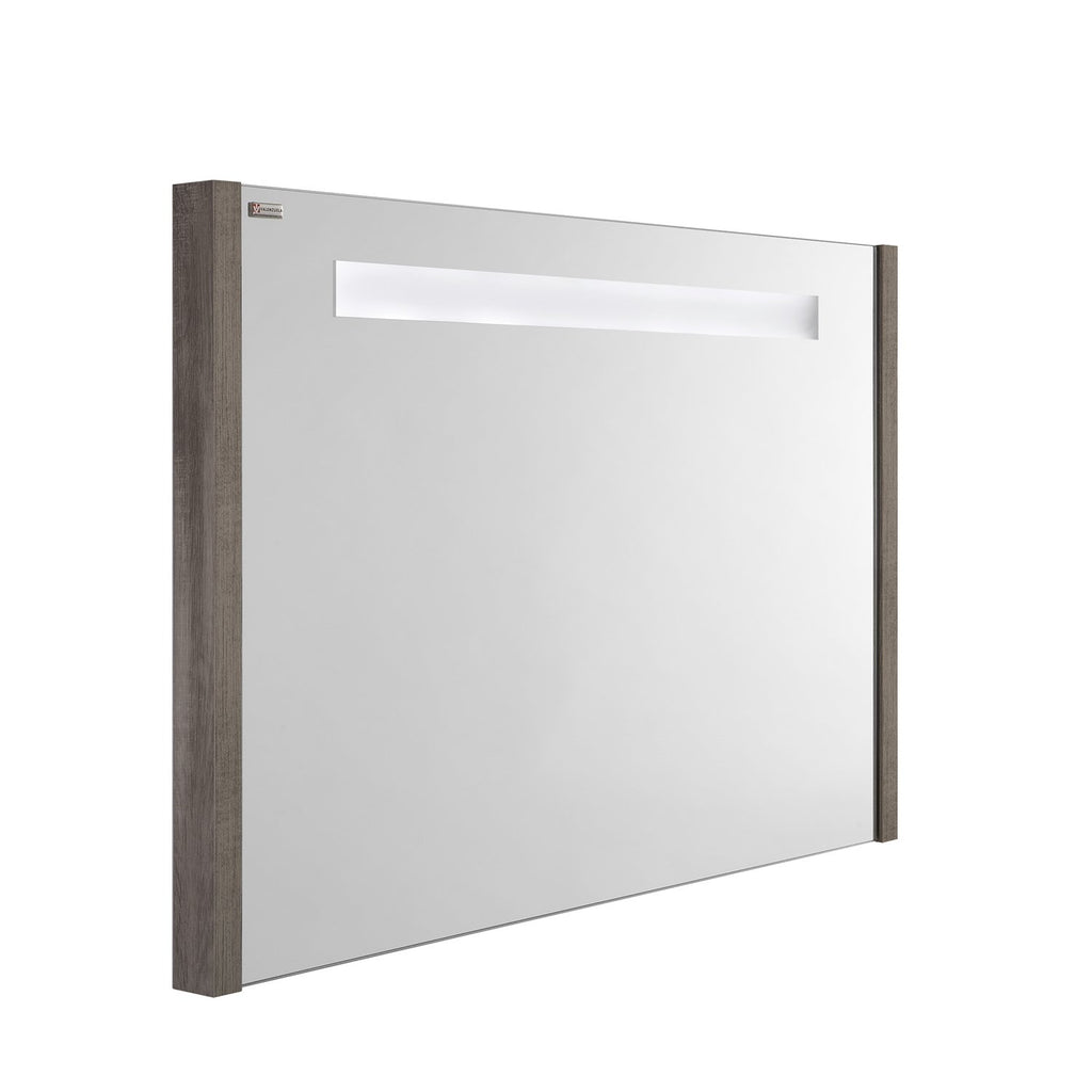 "32"" LED Backlit Bathroom Vanity Mirror, Wall Mount, Ash, Serie Roma by VALENZUELA"