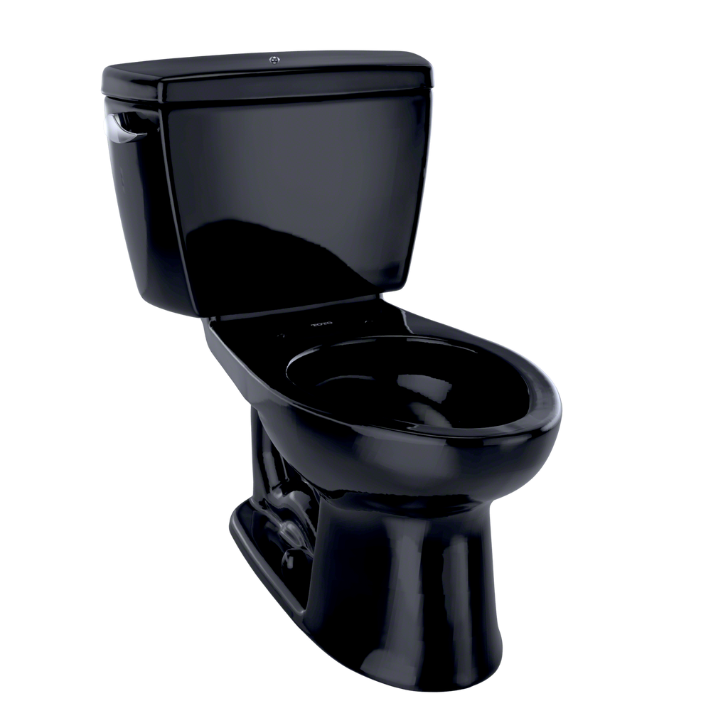 TOTO® Drake® Two-Piece Elongated 1.6 GPF Toilet with Insulated Tank and Bolt Down Tank Lid, Ebony - CST744SDB#51