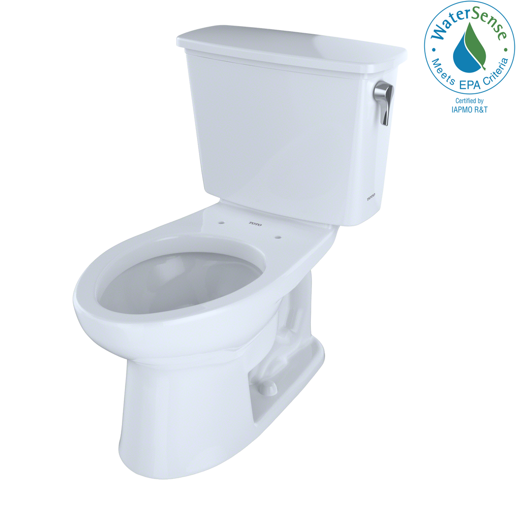 TOTO® Eco Drake® Transitional Two-Piece Elongated 1.28 GPF ADA Compliant Toilet with Right-Hand Trip Lever, Cotton White - CST744ELRN#01