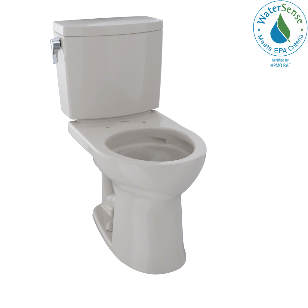 TOTO® Drake® II 1G® Two-Piece Round 1.0 GPF Universal Height Toilet with CeFiONtect™, Sedona Beige - CST453CUFG#12
