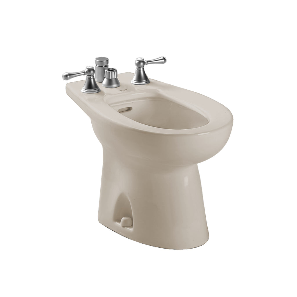 TOTO® Piedmont® Deck Mount Vertical Spray Flushing Rim Bidet, Bone - BT500B#03