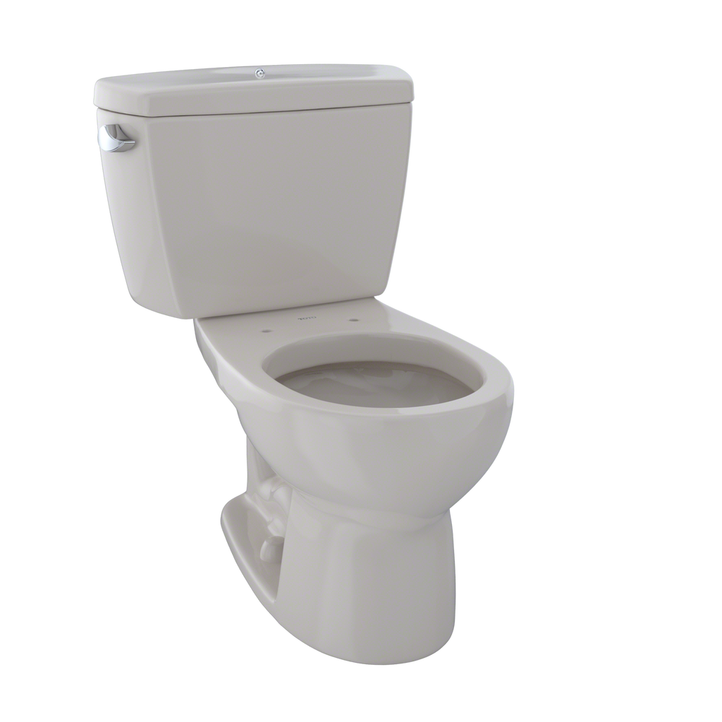TOTO® Drake® Two-Piece Round 1.6 GPF Toilet with Insulated Tank and Bolt Down Tank Lid, Sedona Beige - CST743SDB#12