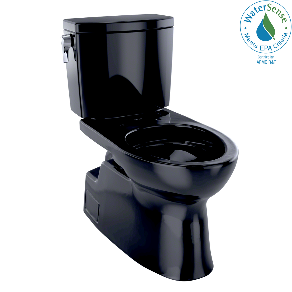 TOTO® Vespin® II 1G® Two-Piece Elongated 1.0 GPF Universal Height Skirted Design Toilet, Ebony - CST474CUF#51