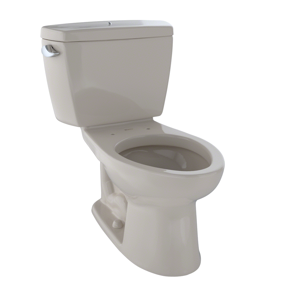 TOTO® Drake® Two-Piece Elongated 1.6 GPF Toilet with Insulated Tank and Bolt Down Tank Lid, Bone - CST744SDB#03