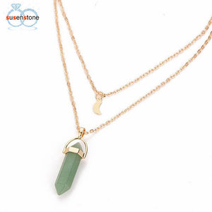 Layering Stone Pendant Necklace - Hey Maisie