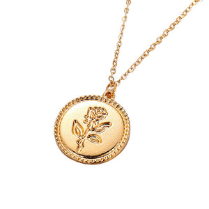 Jolene's Rose Pendant Necklace - Hey Maisie