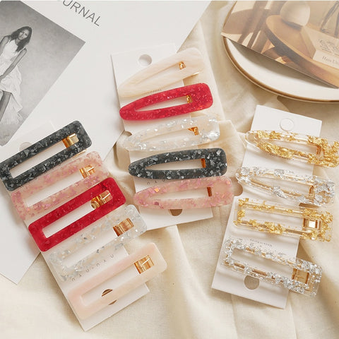 marble textured hair clips hair pins