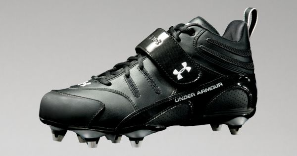 New Under Armour 1099006-001 Intensity Mid D Football Cleats Men Size 10.5 Black
