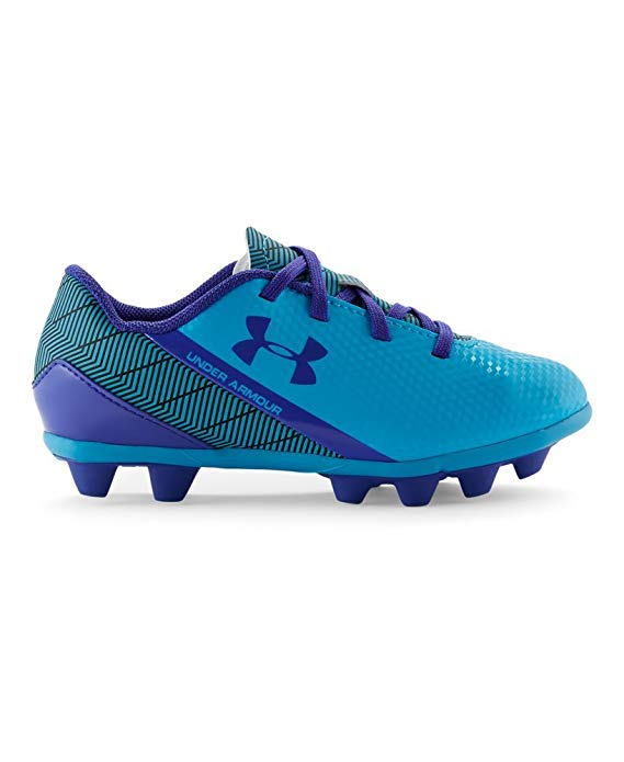 New Under Armour Kids Flash HG Jr Soccer Cleats 10K Blue/Purple Synthetic