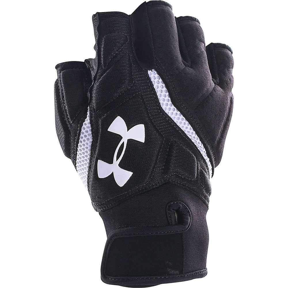 New Under Armour Combat IV Half Finger Lineman Glove Medium Black/White