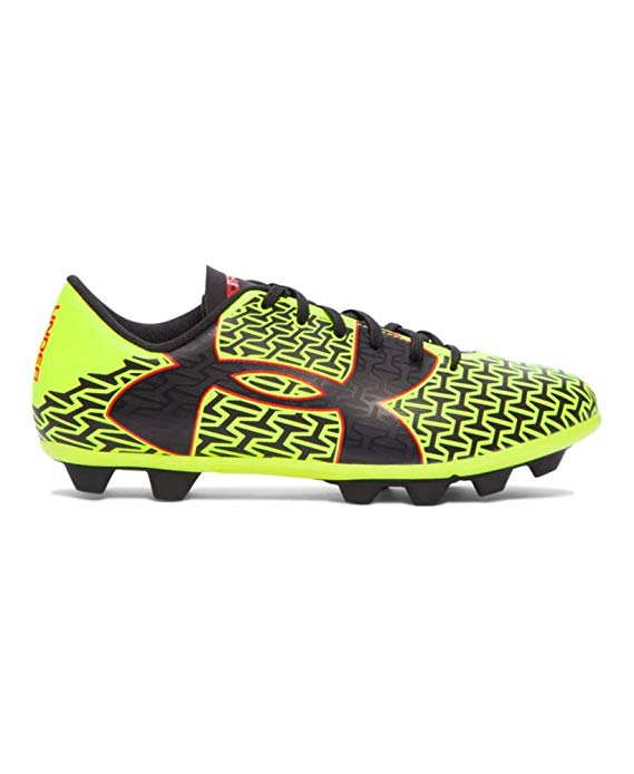 New Under Armour Boys UA ClutchFit Force 2.0 HG Jr. Soccer Cleats 12K Blk/Yllw