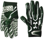 New Under Armour Men's F5 Football Gloves Small Green/White
