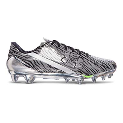 New Under Armour Spotlight Molded Football Cleats Men Size 13.5 Metallic/Silver