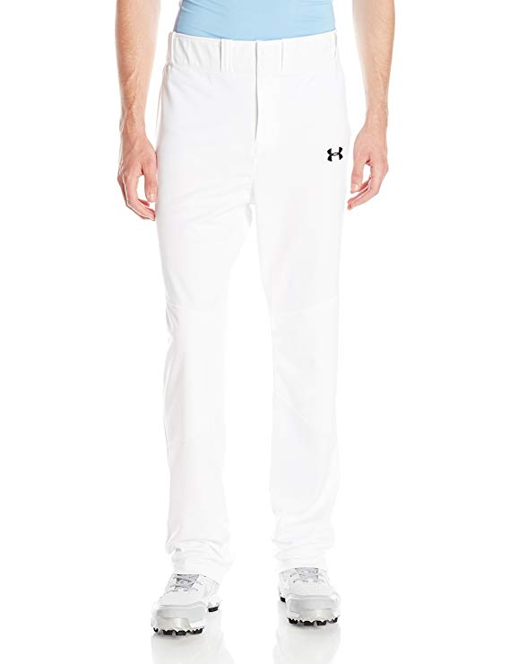 New Under Armour Men's Lead Off Baseball Pants Medium White