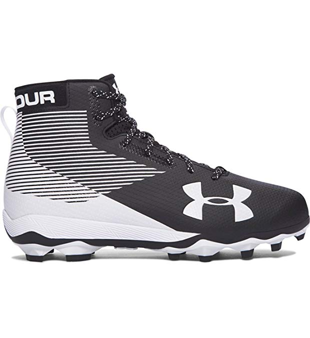 New Under Armour Hammer MC Molded Football Cleats Blk/Wht Men's 13.5