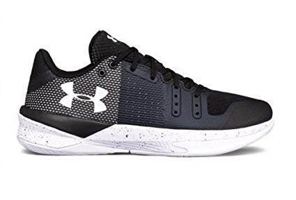 New Under Armour Women's Block City Volleyball Shoe Size 6 Black/White 1290204