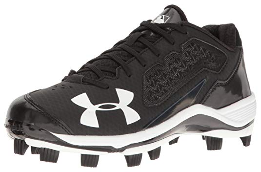 New Under Armour Men's Ignite Low TPU Baseball Shoe, Black 13