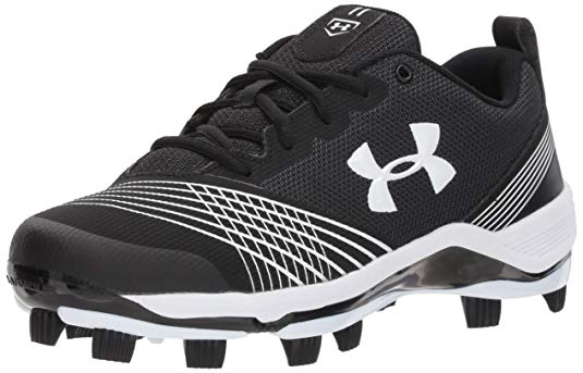 New Under Armour Women's Glyde ST Softball Size 5.5  Black/White Metal Cleats
