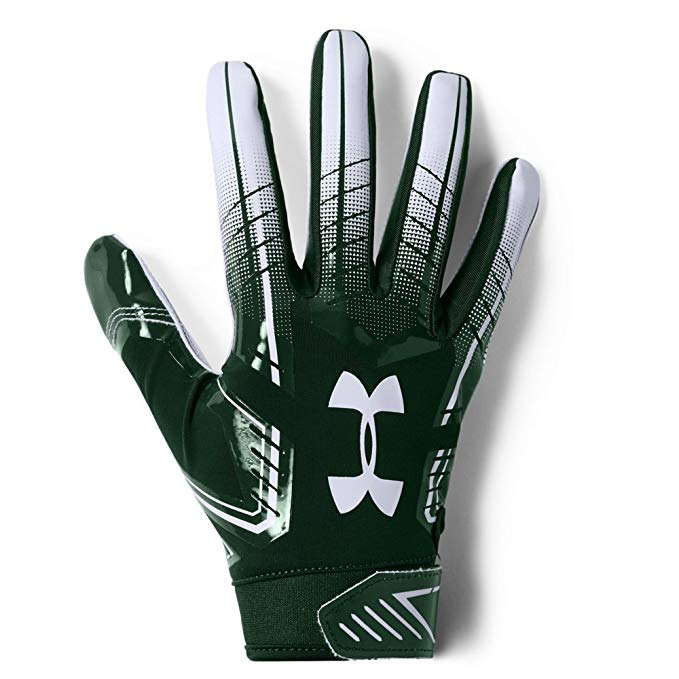 New Under Armour Men F6 Adult Football Gloves Medium Green/White