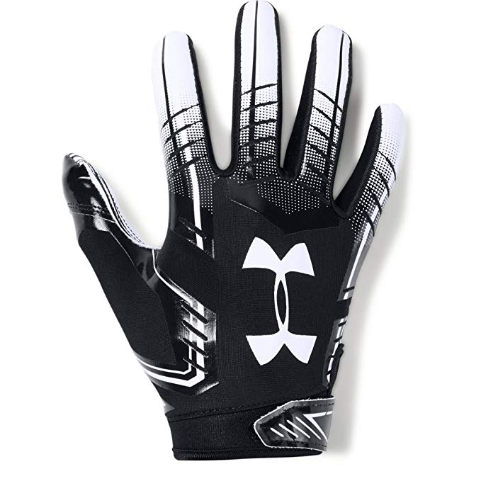 New Under Armour Boys' F6 Youth Football Gloves Large Black/White