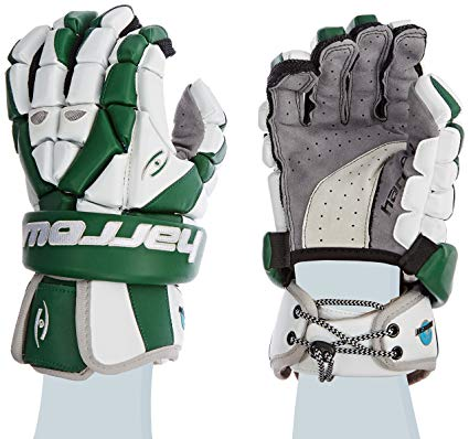 New Harrow Torrent HD Men's Lacrosse Glove, 13.5-Inch, Green/White