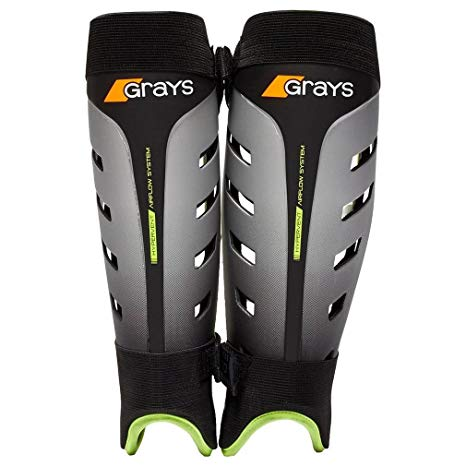 "New Grays G800 Shinguards Adult Small- 9.5"" Black/Gray"