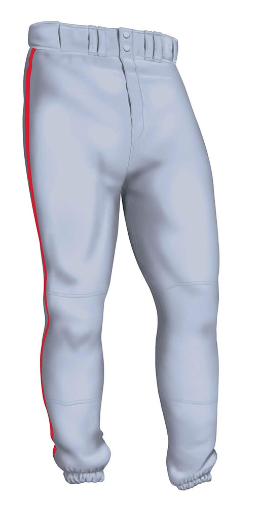 New Easton Pro Pipepant Baseball Pants Senior XX-LArge Gray/Red A164144