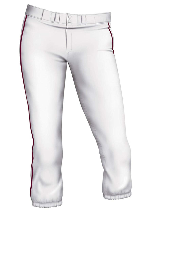 New Easton Womens Pro Pants With Piping White/Navy XX-Large Softball Pants