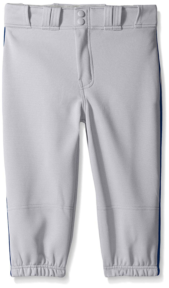 New Easton Baseball Boys' Youth Pro Plus Baseball Pants Large Grey/Navy