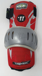 New Warrior Millennium Pro Gear 5.5 Large Lacrosse Arm Guard Red/Silver 1 Pair