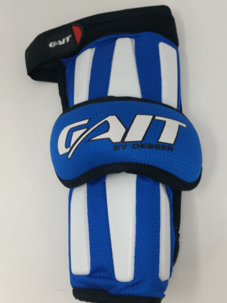 New Gait CHAAG-L Large Chaos Series Lacrosse Arm Guards Royal/White 1 Pair