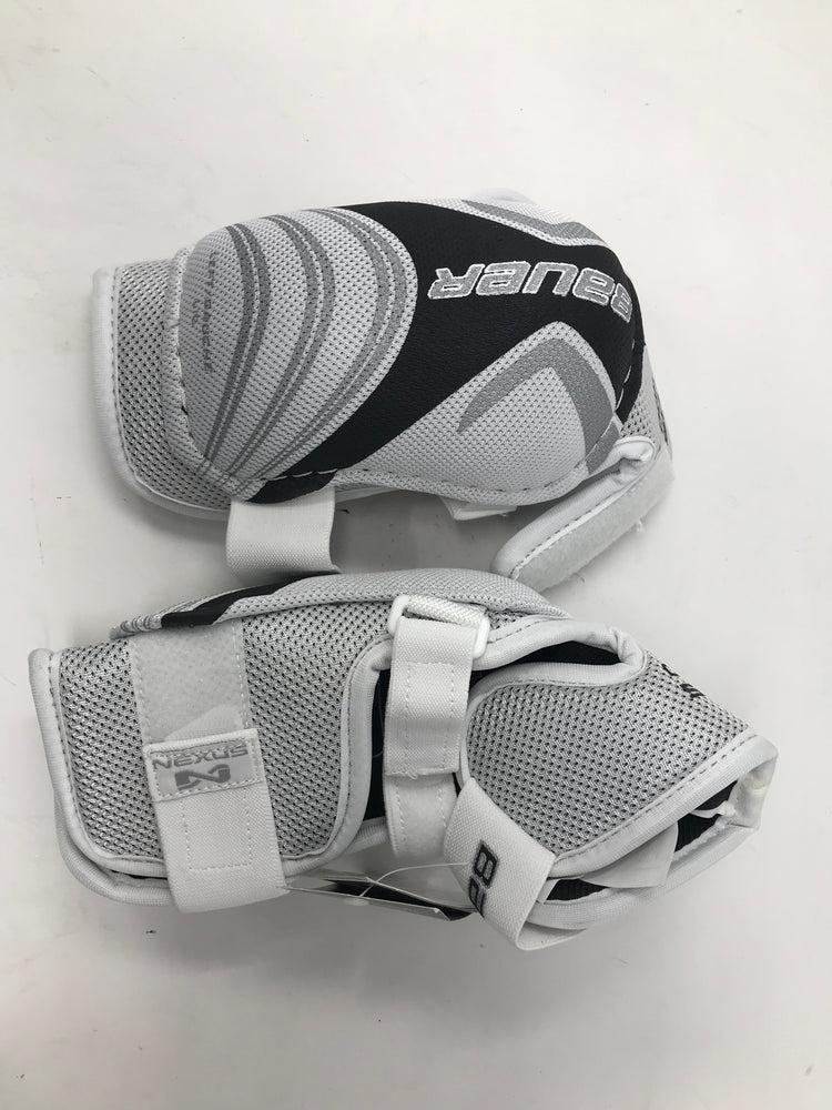 New Bauer 400 Large White/Gray Hockey Elbow Guard