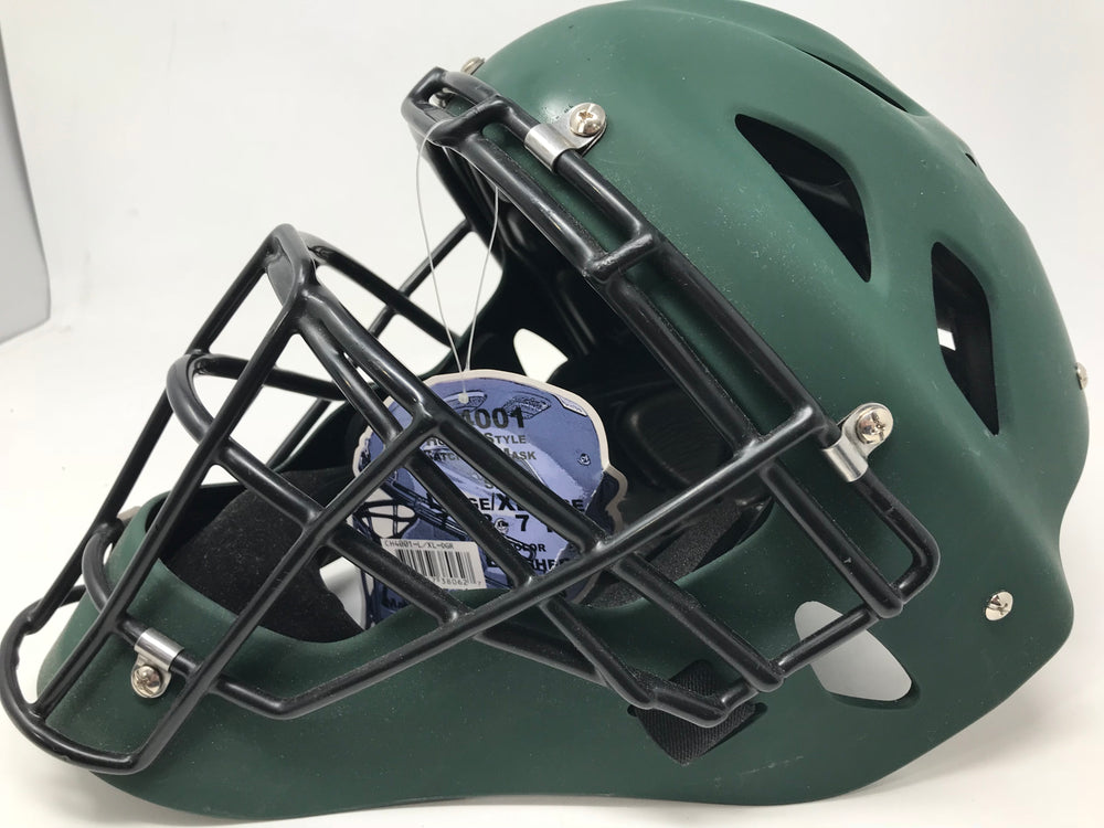 New Adams CH4001 Baseball Hockey Style Catchers Helmet Large/X-Large Green/Black