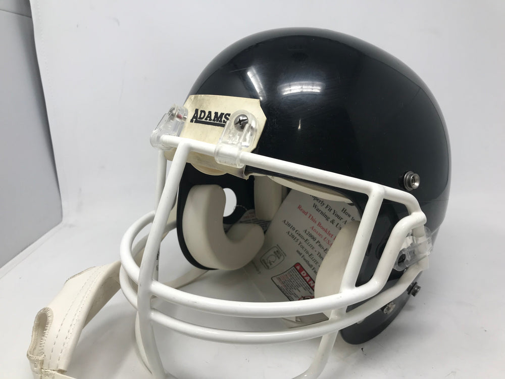 New Adams A2010 Grid Elite Youth Medium Football Helmets Black/White JR/HS Only