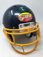 New Schutt XP Hybrid Youth Large Football Helmet Navy/Yellow 799002 Complete