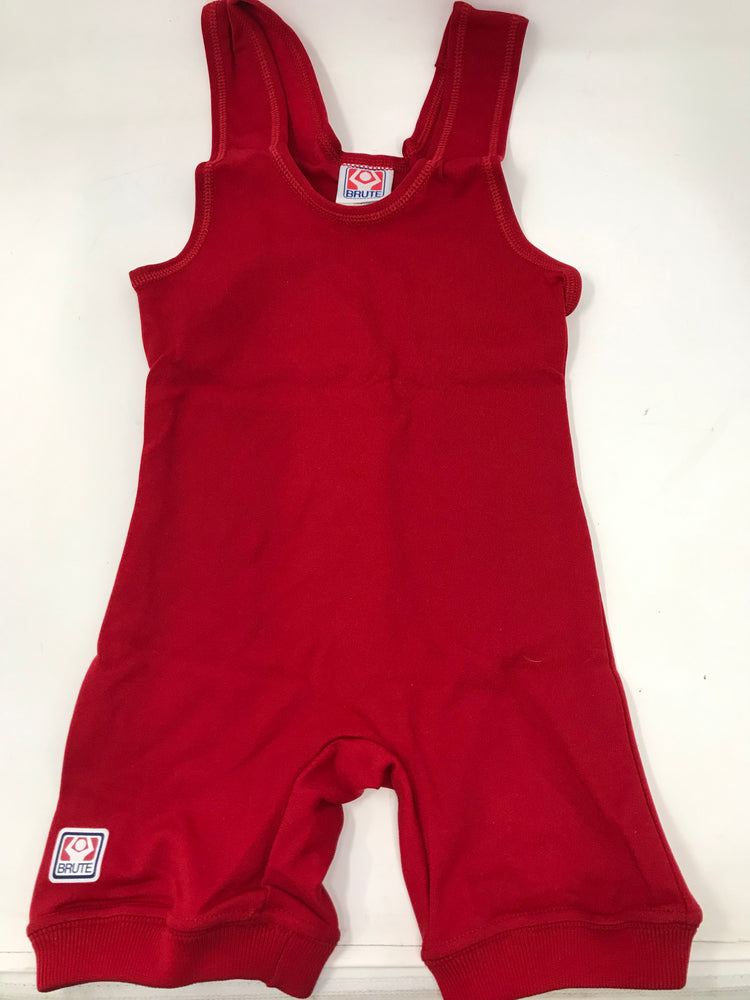 New Brute Wrestling Singlet High Cut- Red Adult XX-Large 0112