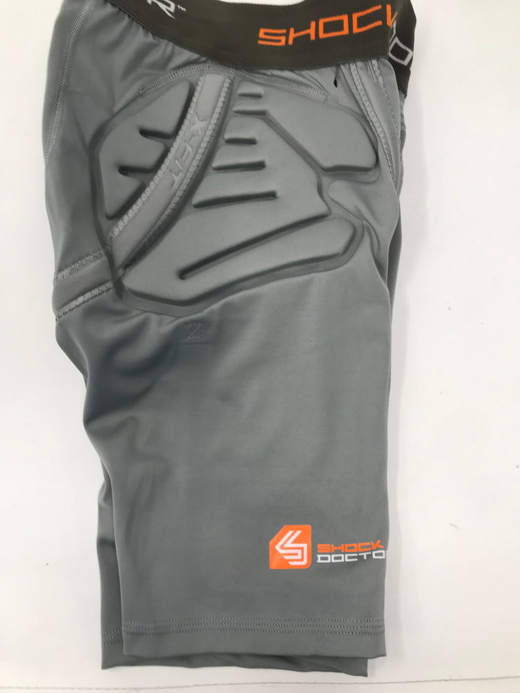 New Other Shock Doctor Shockskin 3+2 Impact Short Boy's Medium Gray (No Cup)