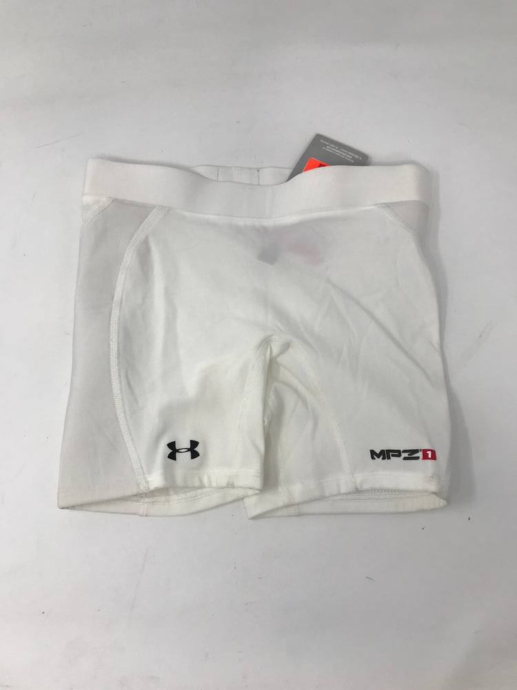 New Under Armour Womens Torque Slider Compression short Wmn S White