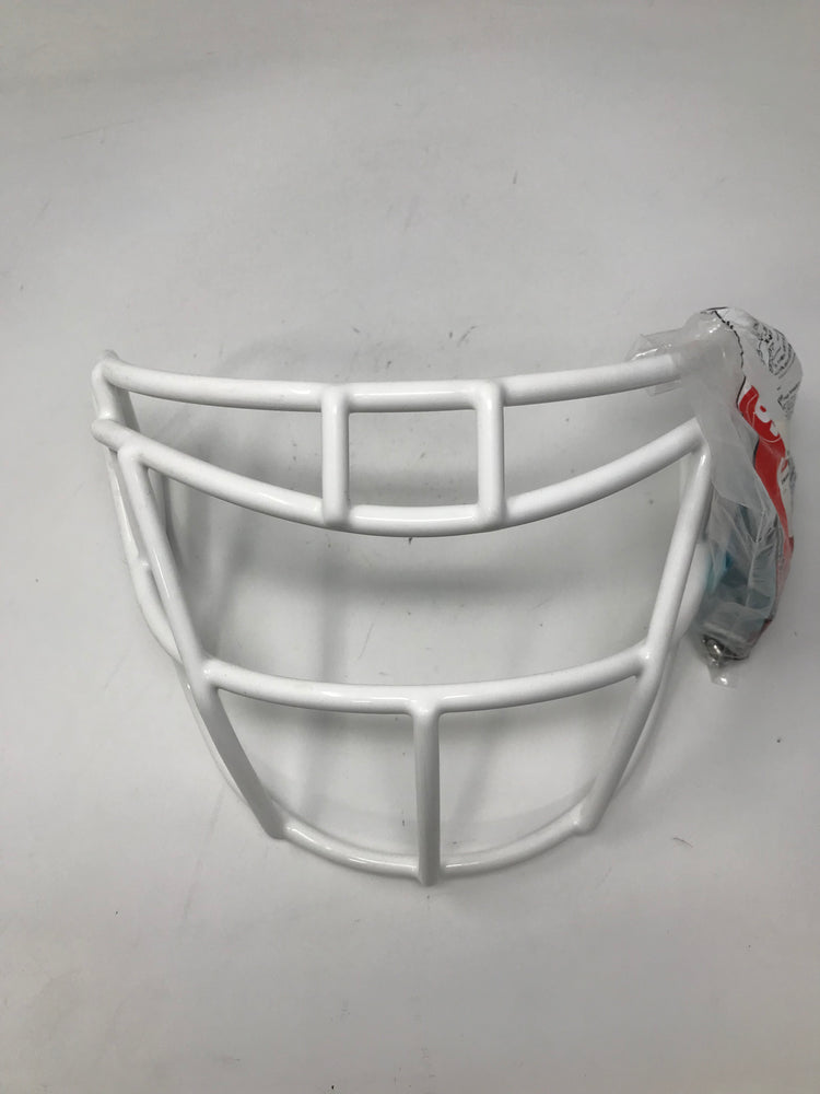 New Schutt Sports Stainless Steel Super Pro Varsity Football Faceguard White Adt
